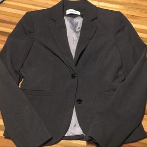 Gray Calvin Klein skirt suit size 2